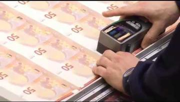 Impression du nouveau billet de 50 euros