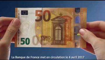 Présentation du nouveau billet de 50 euros