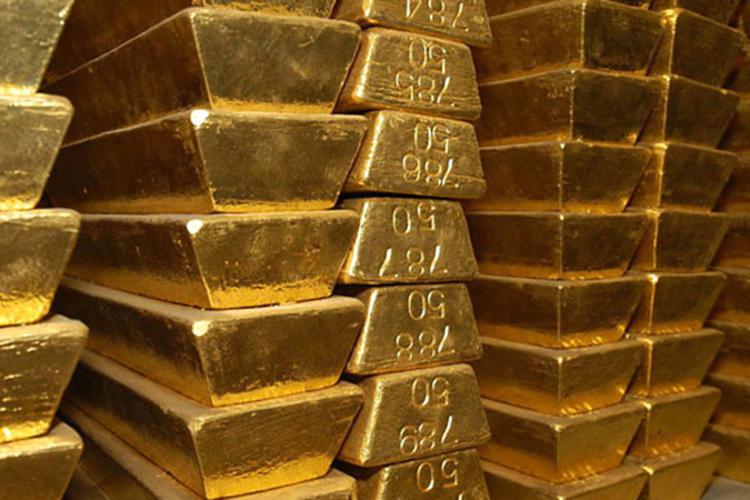 Barres d'or.