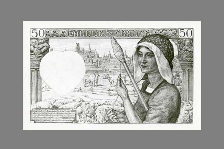 50 Francs Jacques Coeur 1941 verso