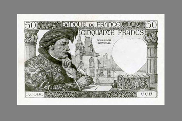 50 Francs Jacques Coeur 1941 recto