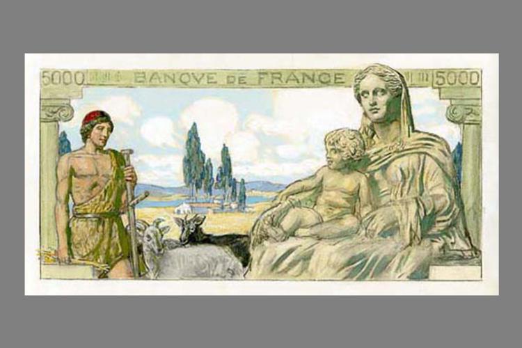 5000 Francs Déméter 1940 recto