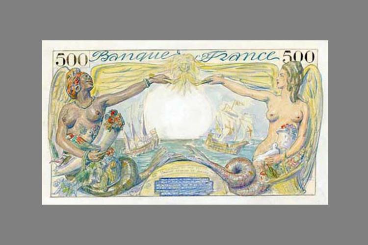 5000 Francs Colbert 1943 verso
