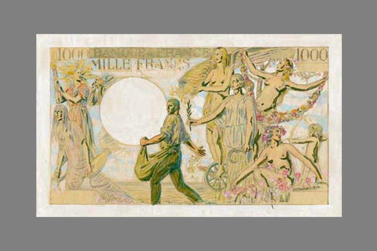 1000 Francs la Victoire pacifique 1939 recto
