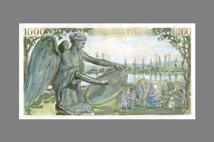 1000 Francs la Victoire pacifique 1939 verso