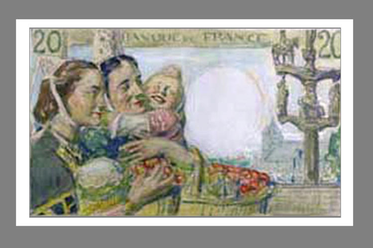 20 Francs Pécheur 1942 verso