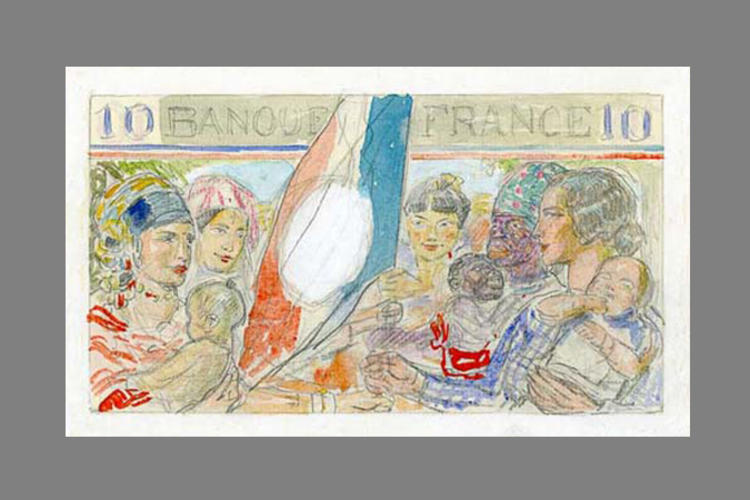 10 Francs Empire Français 1939 verso