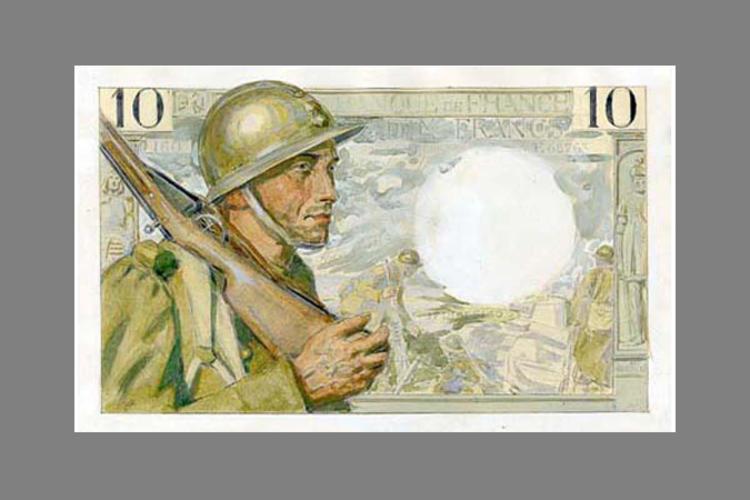 10 Francs Soldat et paysanne 1939 recto