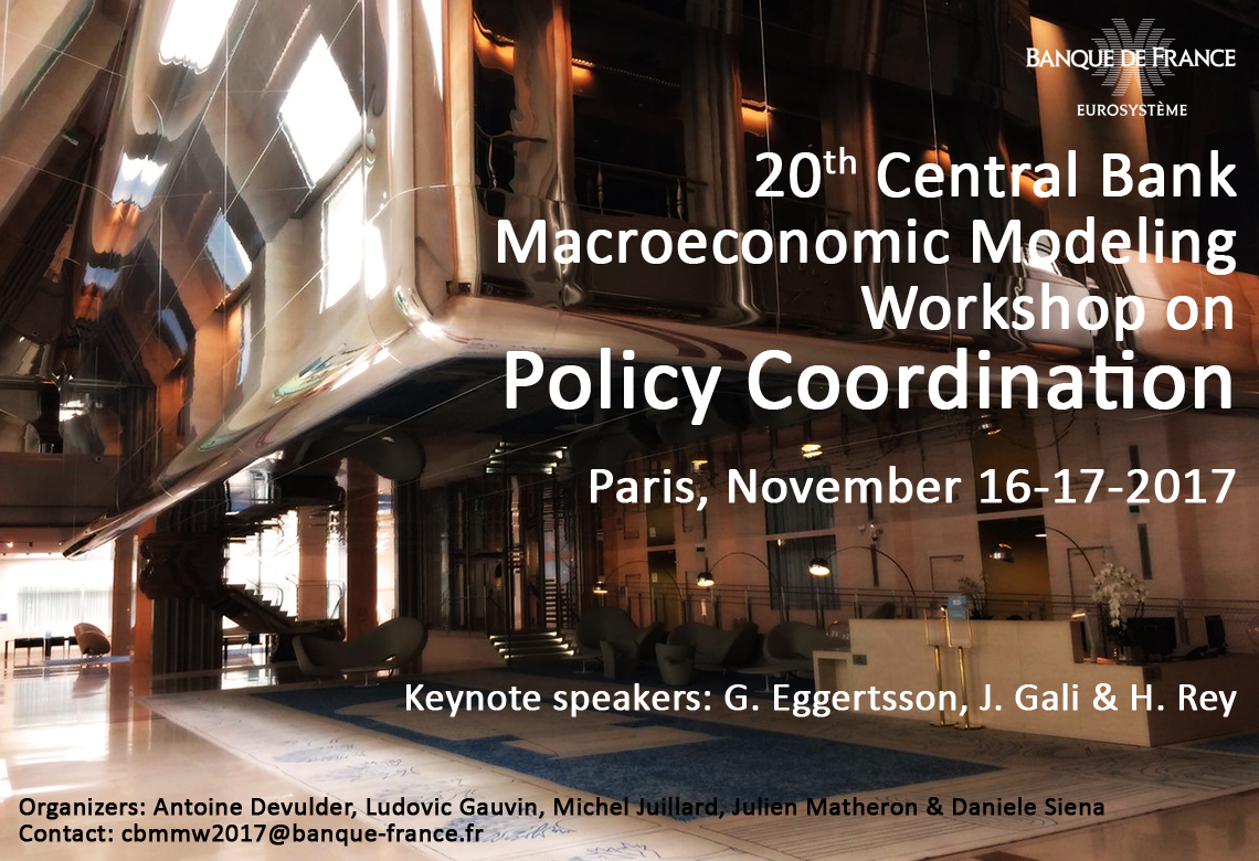 20th Central Bank Macroeconomic Modeling Workshop on Policy