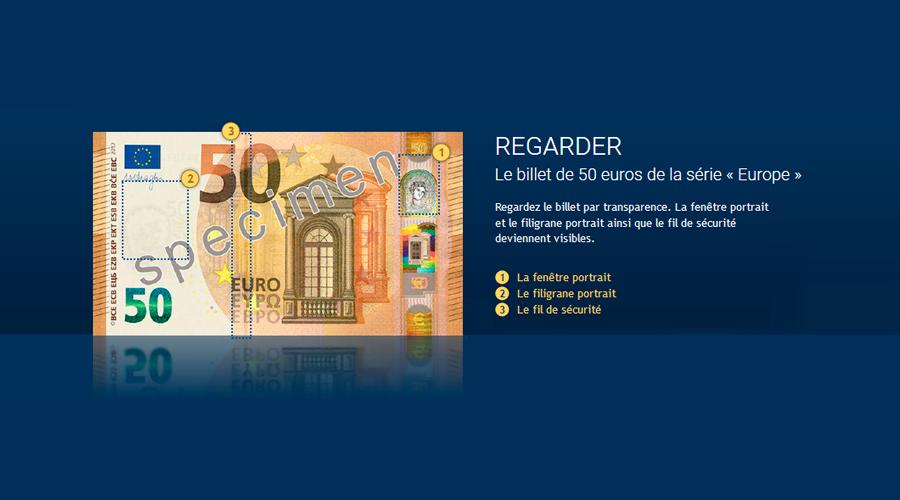 Le Nouveau Billet De 50 Euros 4eme Billet De La Serie Europe