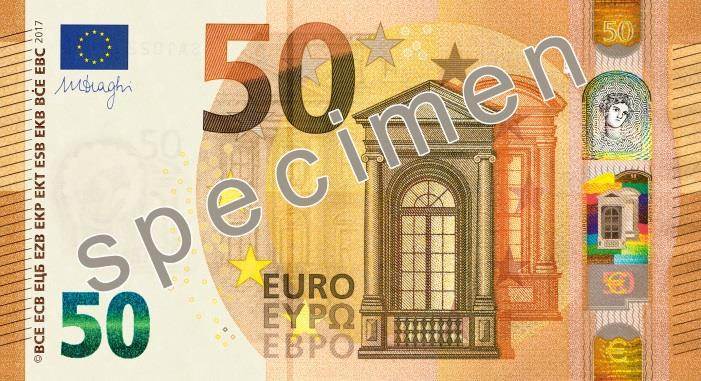 Mise en circulation du nouveau billet de 50 € le 4 avril 2017